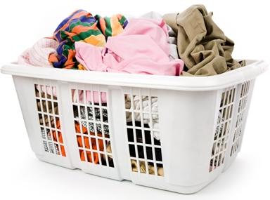 basket of washing cloths