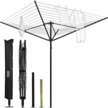 Best 50-Meter Rotary Washing Line By Fude